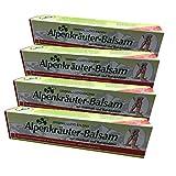 4er Pack Alpenkräuter Balsam mit Weinlaub | Sportbalsam | Kräutercreme | Riesentube Massagegel mit Rosskastanie Extrakt
