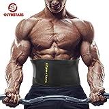 Olymstars Bauchweggürtel - 140cm WaistTrainer für Damen Herren - WaistTrimmer Beschleunigt Gewichtsabnahme, Fettverbrennung, Bauchmuskulatur, Rückenstütze -Schwitzgürtel für Übung, Laufende Training