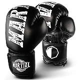 Martial Boxhandschuhe aus bestem Material für Lange Haltbarkeit! Kickboxhandschuhe für Kampfsport, MMA, Sparring und Boxen mit optimaler Schlagdämpfung - inkl Beutel!