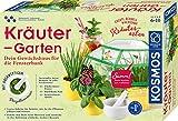 KOSMOS 632090 - Kräuter-Garten, Züchte duftende Kräuter auf der Fensterbank, Mit Gewächshaus und Mörser aus Porzellan, Experimentierkasten für Kinder ab 6 Jahre