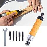 Liamostee Holzmeißel Schnitzwerkzeug Bohrfutteraufsatz für elektrische Bohrmaschine, Flexibler Schaft