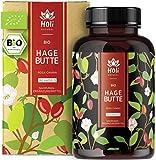 Holi Natural® BIO Hagebuttenkapseln | 180 vegane Kapseln | 3600mg je Tagesdosis | Reine Hagebuttenpulver Kapseln hochdosiert Hoher Vitamin C Gehalt