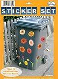 My Home Mülltonnen-Sticker'Blumen'