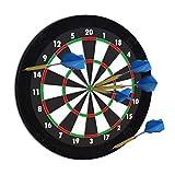 Relaxdays Dart Auffangring 'R5', Catchring Dartscheibe, 4-teilig, Surround f. Dartboards, EVA, 45 cm, schwarz