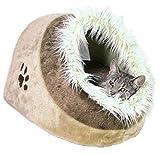 Trixie 36282 Kuschelhöhle Minou, 41 × 30 × 50 cm, beige/braun