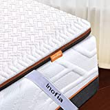 Inofia Matratzenauflage 180x200 Matratzentopper Memory Foam Topper Visco Mattress Topper 2cm Naturbrown Airyfoam+4m Biogrey Reliefoam, 100 Nächte Probeschlafen,10 Jahre Garantie(180 x 200 cm)