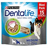 PURINA DENTALIFE Medium Hunde-Zahnpflege-Snacks, reduziert Zahnstein-Bildung und Mundgeruch, Huhn, mittelgroße Hunde, 5er Pack (5 x 345g)
