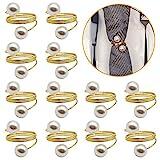 Sayopin Gold Serviettenringe 12 Stück Serviettenringe Set, Tischdekoration Serviettenhalter für Hochzeit Hotel Tisch Dekoration Party Serviettenringe