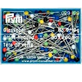 Prym Glaskopfnadeln, 0,60 x 30mm, bunt, 10g, Stahl, 30 x 0,60mm
