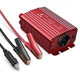 Wechselrichter 500W/BESTEK Spannungswandler DC 12V auf AC 230V/KFZ Inverter mit TÜV Zertifiziert und 2 USB Anschlüsse inklusive Kfz Zigarettenanzünder Stecker Autobatterieclips