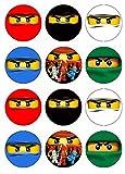 12 Stück Muffinaufleger Muffinfoto Aufleger Foto kompatibel mit Nin-jago (34) rund ca. 5 cm *NEU*OVP*