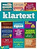 Klartext Sprüche - Wochenplaner Kalender 2021, Wandkalender im Hochformat (25x33 cm) - Typografie Wochenkalender mit Rätseln und Sudokus