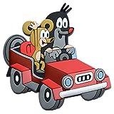 Trötsch Der kleine Maulwurf 3D Magnet rotes Auto: Magnet für Kühlschrank Whiteboards oder Büroschränke (Magnete)