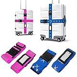 Koffergurt, Mture Gepäckgurt Einstellbare Kofferband Travel Accessories Kofferband Gepäckband zum Sicheren Verschließen der Koffers auf Reisen und Kennzeichnen von Gepäck - 4 Stück