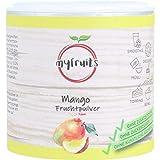 myfruits® Mangopulver - ohne Zusätze, zu 100% aus Mango, gefriergetrocknet, Fruchtpulver für Smoothie, Shakes & Joghurt (70g)