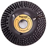 Bayerwald'Black Biter' - Raspelscheibe - Ø 125 mm x 22,2 mm | schnelles, grobes Abschleifen von Holz & Holzwerkstoffen | für Winkelschleifer