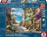 Schmidt Spiele 59624 Thomas Kinkade, Café an der italienischen Riviera, 1000 Teile Puzzle, Bunt