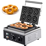 VEVOR 1550W Donutmaker für 6 Donut Doughnut Maschine Elektrisch 220V Kommerziell Donut Maschine