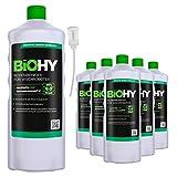 BiOHY Bodenreiniger für Wischroboter (6x1l Flasche) + Dosierer | Konzentrat für alle Wisch & Saugroboter mit Nass-Funktion | nachhaltig & ökologisch