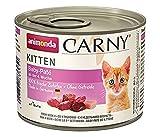 animonda Carny Kitten Katzenfutter, Nassfutter Katzen bis 1 Jahr, Baby-Paté , 6 x 200 g