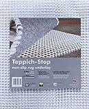 andiamo Teppich-Stop Antirutschmatte Teppichgleitschutz Teppichunterlage Haftgitter Rutschschutz, PVC beschichtetes Polyester, rutschhemmend zuschneidbar pflegeleicht strapazierfähig, weiß, 60 x 120 cm