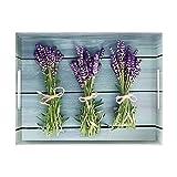 Emsa 513714 Tablett mit Lavendel Dekor, Größe 50 x 37 cm, Classic