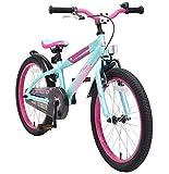 BIKESTAR Kinderfahrrad 20 Zoll für Mädchen und Jungen ab 6 Jahre | 20er Kinderrad Mountainbike | Fahrrad für Kinder Berry & Türkis | Risikofrei Testen