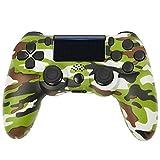 Controller für Playstation 4/ Playstation 4 Slim/ Playstation 4 Pro/ PC/ Laptop mit Headsetanschluss, Vibrationsmotoren, LED-Anzeige & Anti-Rutsch-Griffen