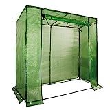 NOOR Tomatenhaus-Gewächshaus Premium I 200 x 75 x175 cm I UV-Gitterfolie optimal für Ihre Tomaten-Pflanzen I Ideal geeignet für Aussaat und Anzucht von Gemüsesamen I Schützen Sie Ihre Tomaten