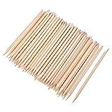 100 Stücke Orange Holz Sticks Nagel Häutchen Stick für Drücker Remover Maniküre Kunst Pediküre, 4,3 Zoll
