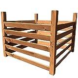 Loggyland Holz Kompostsilo - Kiefer lasiert 100 x 100 x 80 cm - gehobelt mit Zuganker
