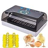Brutmaschine Vollautomatische Hühnere Eier Brutgerät 9-35 Inkubator Automatisches Drehen und Schlüpfen von Brutapparate mit LED-Beleuchtung für Terrarien, 100Stück Anti-Pecking-Hühnergläser enthalten