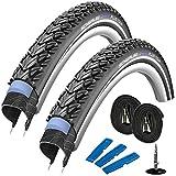 Schwalbe Marathon Plus Tour 28' (42-622) 2 Stück, Fahrradreifen Set für Trekking- Crossbike + 2 Schläuche SV 17