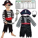 Sincere Party Kinder Piraten Jungen Kostüm mit Hut, Schwert, Augenklappe