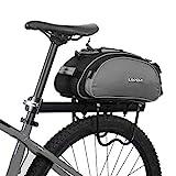 Lixada Fahrradtaschen Gepäckträger Wasserdicht Sitz Multifunktionale Tasche MTB Rennrad Rack Carrier 13L / 25L(Optional) (13L-Grau)