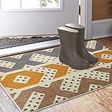 Color&Geometry rutschfeste Schmutzfangmatte 50x80 cm, maschinenwaschbare weiche Fußmatte Türmatte Teppiche Vordertür Eingangsteppich für Eingangsbereich, Innen, Außen, Wohnzimmer, Flur (Gelb)