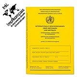 Impfpass Standard, Neue Ausgabe Version 2020-12 mit Extraseite für aktuelle Schutzimpfungen, inkl. Impfkompass, Impfausweis, Impfbuch, internationaler Impfpass f. Erwachsene und Kinder, u-Heft