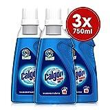 Calgon 3in1 Power Gel – Wirksam gegen Kalk, Schmutz und Gerüche – Schützender Wasserenthärter für die Waschmaschine – 3 x 750 ml