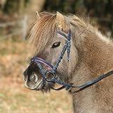WALDHAUSEN Trensenzaum Unicorn 2, nachtblau/azalee, Shetty, nachtblau/azalee, Shetty