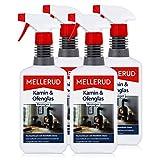 4x Mellerud Kamin und Ofenglas Reiniger Sprühflasche 500 ml