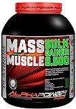 ALPHAPOWER FOOD Maas - Whey, Muscle Weight Gainer I Mega, Muskelmasse & Muskelaufbau - Protein - Eiweiß, Kohlenhydrate – Pulver - Shake für Hardgainer, 2kg Schoko + Creatin, Bcaa, MCT Öl