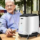 KKTECT Sauerstoff-Konzentrator Einstellbare tragbare Sauerstoffmaschine mit schönem IMD-Farbfeld Großer Durchfluss von 1-7 l/min 42db Ruhig für zu Hause und auf Reisen