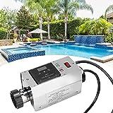 Nannday Poolheizung Elektrisch Thermostat, 220V 3KW wasserdichte Swimmingpool Thermostat Schwimmbad SPA Whirlpool Elektrische Durchlauferhitzer Pumpe Assistent Digitale Thermostat