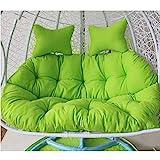 Yuany Eier-Hängematten-Stuhlpolster, Schaukelstuhl-Kissenpolster Gartenpatio im Freien Hängende Korbmöbel, Größe: 145 x 108 cm (Farbe: Grün)(KEIN Stuhl)