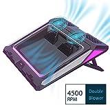IETS Laptop-Lüfter mit Temperaturanzeige, tragbarer intelligenter Notebook-Kühler, schnelle Kühlung, einstellbare Geschwindigkeit, automatische Temp Erkennung Schwarz GT300 400*348*50mm