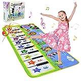 NEWSTYLE Baby Spielzeug Ab 1 Jahr, Kinderspielzeug Babyspielzeug Tanzmatten Klaviermatte Musikmatte mit 8 Instrumenten für Baby 1 Jahr Spielzeug Babys, Geschenk 2 Jahre Mädchen 135x59 cm