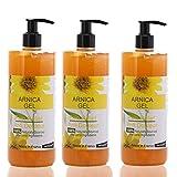 Arnika Gel 90% 3 x 200 ml Arnica Montana Gel Schnelle Aktion Kräuter Hilfsmittel 100% natürlich Sport Gel Massage-Gel