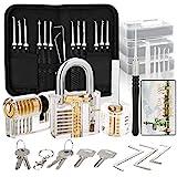 Dietrich Set, 30 Stück Lock Picking Set mit 3 Transparenttem Vorhängeschloss Dietrichen Kit für Anfänger und Professionelle Lockpicker