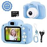 ASIUR Kamera für Kinder, 1080P FHD Digital Video Kinder Camcorder-2.0 'IPS Bildschirm wiederaufladbare Spielzeugkameras Recorder für Jungen Mädchen (Blau)