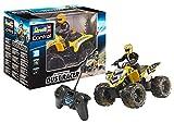 Revell 24641 New Dust Racer 8 RC Quadbike, ferngesteuertes Quad in Used-Look mit 2-Kanal 27 MHz Fernsteuerung für Einsteiger, gelb, 220 x 170 x 210 mm